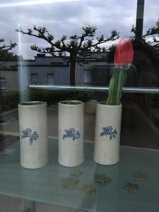 Trio de vases pour 1ère communion Odila