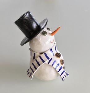 Bonhomme de neige tire-lire